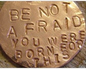 Be Not Afraid You Were Born For This  by Jean Skipper - Photo Post Card and Art Print with Envelope