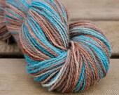 Wedgewood -  Handpainted Angora Alpaca Wool Yarn 100 grams - Sock Fingering Hand Dyed