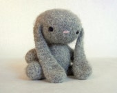 Felted Wool Bunny Crochet Plush Toy Dove