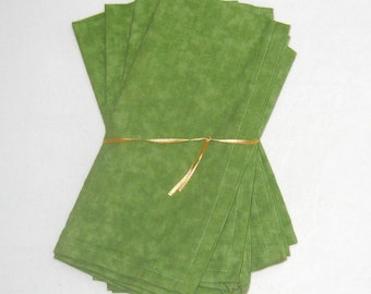 Warm Green Cloth Napkins Set of 4
