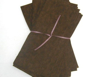 Brown Cloth Napkins Set of 4