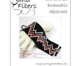 Peyote Pattern - Contained Dramatic Abstract Peyote Cuff / Bracelet  - A Sand Fibers For Personal/Commercial Use PDF Pattern