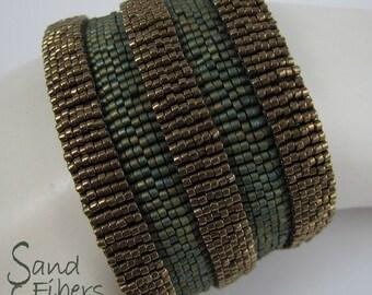 Ancient Architecture Peyote Cuff Bracelet (3000)