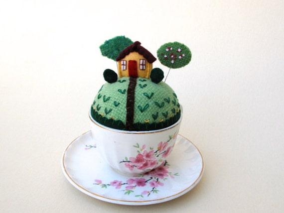 Teacup Pincushion Make Do By Mimikirchner On Etsy