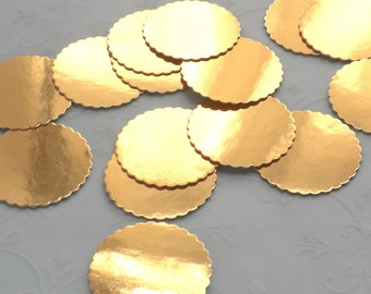 Miniature Supplies - 25 GOLD Foil Bakery Boards for Dollhouse miniature Cakes and Bakery Treats