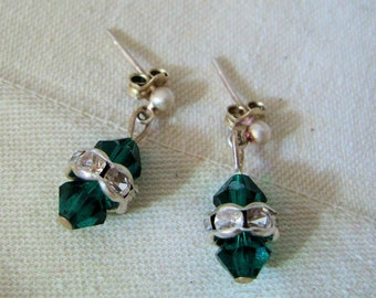 SALE-Emerald Brilliance Earrings by Diana