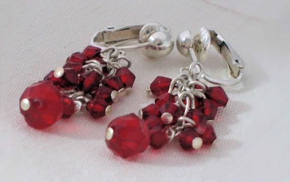 Festive Crimson Earrings by Diana