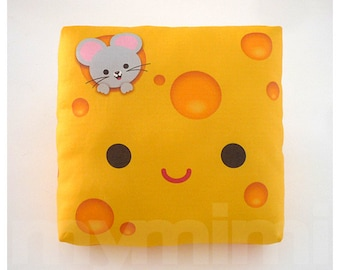 Decorative Pillow, Mini Pillow, Kawaii Print, Toy Pillow  - Yummy Cheese
