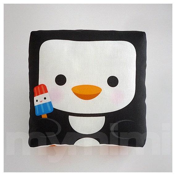 Decorative Pillow, Mini Pillow, Throw Pillow, Kawaii Animal, Toy Pillow - Happy Penguin