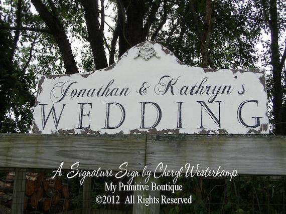 Custom WEDDING SIGN, Gorgeous Shabby Chic Sign, VINTAGE Inspired Wedding Decor, Established Name Sign, Custom Name Sign, Surname, 36 X 16