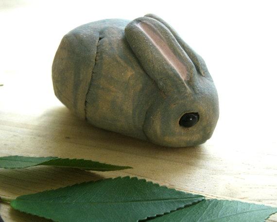 Stoneware Woodland  Rabbit Sculpture, Invisible