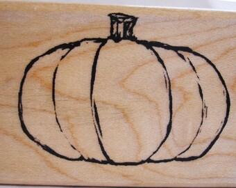 autumn pumpkin rubber stamp