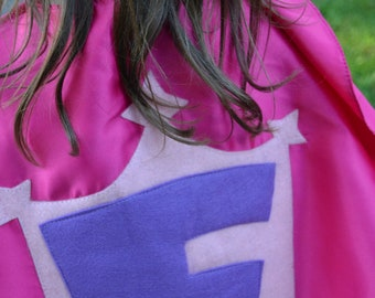 Superhero Cape kids Costume Capes Personalized  Superman Supergirl Batman Princess