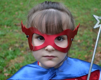 Superhero masks kid lightenbolt  or Princess Mask Bulk Favor