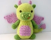 Amigurumi Crochet Dragon Pattern Digital Download