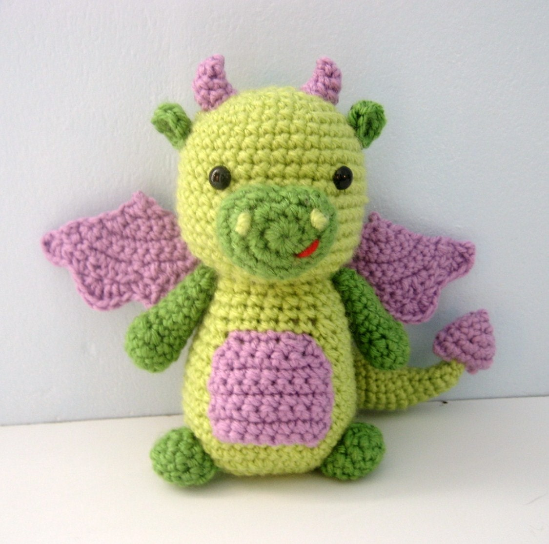 Large Amigurumi Pattern Free : Amigurumi Crochet Dragon Pattern Digital Download