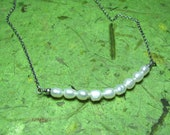 Poetry - Freshwater Pearl and Sterling Silver Necklace