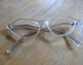 vintage clear cat eye glasses frames