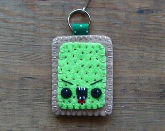 Zombie Pop Tart Key Ring Zipper Pull