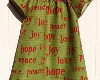 Joy in Green Peasant Dress Size 3