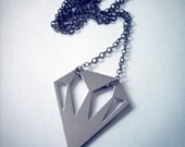 Silver and Steel Diamond necklace