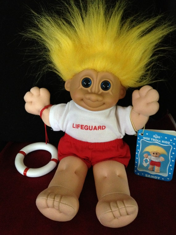 Troll Beach Lifeguard RUSS Doll with Tag
