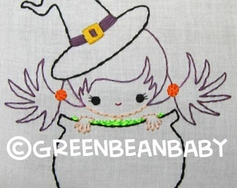 Pirate Boy, Candy Corn boy, and Witch girl in Pot Digital Embroidery Patterns