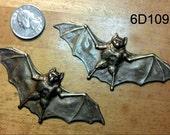 2 Vintage large Bat Stampings