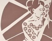 Paper cuts (3) silkscreen on paper