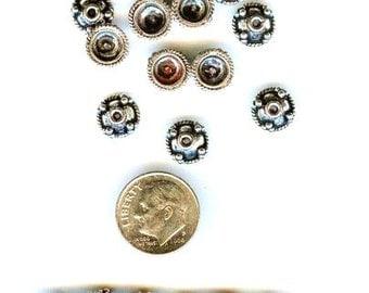 Stunning Bali Style Ornate Bead Caps 12 pcs 9mm
