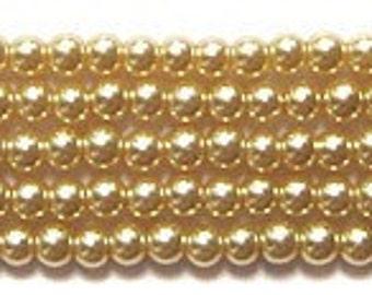 3mm Elegant Champagne Glass Pearls 50 pcs