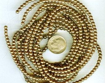 3mm Elegant Copper Glass Pearls 50 pcs