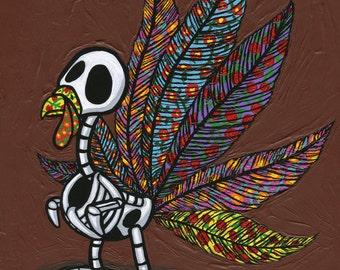 El Pavo De Los Muertos 8x10 print Day of the Dead Thanksgiving