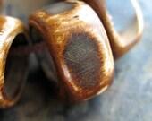 Antiqued Bone Rings - 4 pieces