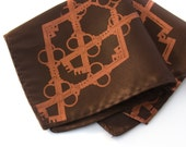 Argyle Skeleton Key handkerchief. Silkscreened pocket square. Microfiber hanky. Choose fabric color & print.