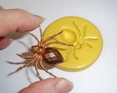 Spider Flexible Mold  Mould For Resin Paper Clay Sculpey Fimo Polymer Premo Wax Chocolate  A243