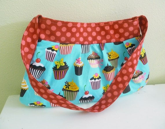 Hello Cupcake Pleated Purse and Wallet Set , Clearance Sale
