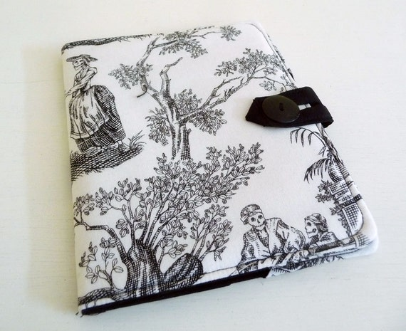 Nook Simple Touch Cover - Day of the Dead Toile, black and white