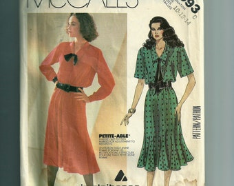 McCall's Misses' Dress and Tie Pattern 2093