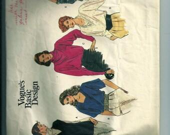 Vintage Vogue Misses' Blouse Pattern 1214