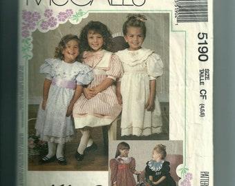 Vintage McCall's Children's Dresses Patten 5190
