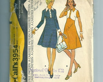 Vintage McCall's Misses' Dress Pattern 3954