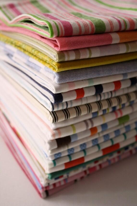 Reclaimed Bed  Linens Fat Quarter Bundle- The Stripe Stash 122