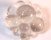 Crystal Clear Bubbles - Bubble Bead - Handmade Lampwork Glass Beads