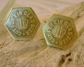 Boys Night Out - Rare Antique German Beer Tokens Recycled Repurposed Cufflinks, Man Gift, Mens Gift, Groomsman Gift