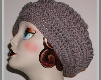 Gray Beret Winter Hat Grey Warm Charcoal Winter Gear Large Charcoal Ladies