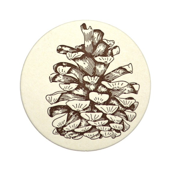 Pine Cone Coasters, fall home decor, drinks coasters, stocking suffer, forest nature woodland rustic decor, hostess gift, dining room, 4