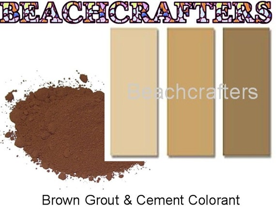 Brown Grout Colorant : Brown colorant for grout or cement oz great to use with