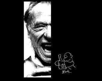 Angry Drunk T-shirt ... S - M - L - Xl - 2Xl... Bukowski... Your choice color