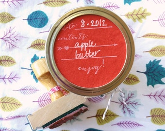 Canning/Preserving/Pickling Label Stamp - Enjoy